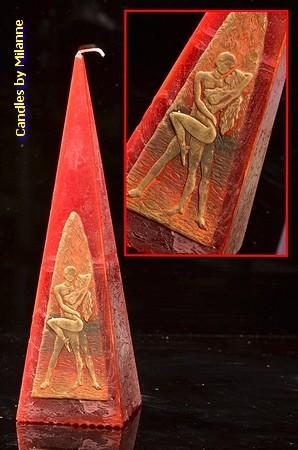 Erotische Kaars, Piramide 24 cm