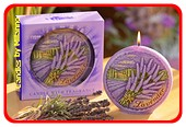 Lavendel, Discus kaars