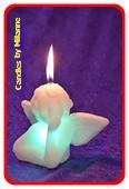 Engelen kaars met LED, H, 12 cm-