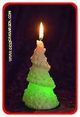 Tannenbaum Kerze mit LED 1