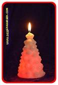 Tannenbaum Kerze mit LED 2