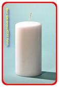 Luxe Stompkaars, Ø 10cm, H: 20 cm, WIT (N7)