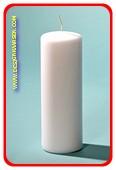 Luxe Stompkaars, Ø 7cm, H: 20 cm, WIT (N4)