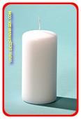 Luxus  Stumpen Kerze, Ø 6cm, H: 12 cm, WEISS