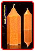 Bleistift Kerze, ORANGE