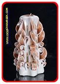 Handgeschnitzte Kerze, 22 cm 50607