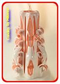 Handgeschnitzte Kerze, 22 cm 50611