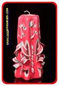 Kaars, handgesneden, 22 cm 50574 (zeer exclusief)