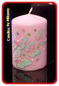 Schmetterling Kerze PINK H: 10 cm