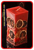 Fruit Kaars medium, ROOD rechthoek H: 15 cm
