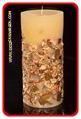 Herbst Stumpe Kerze, mega XXXL, H: 26 cm