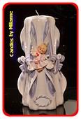 GeboorteKaars, handgesneden, 23 cm 51603