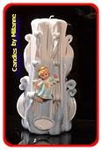 Geboorte Kaars, handgesneden, 23 cm 51607