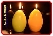 Oster Kerze (2 stück gelb & grün)