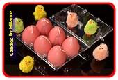 Oster Eier Kerze ROT (6 stuck)