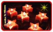 Sterkaarsen metallic oranje, 6 stuks - Kerst