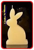 Kaninchen Kerze WEISS - H: 14 cm