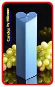 Herzen Kerze, BLAU METALLIC, höhe: 18 cm