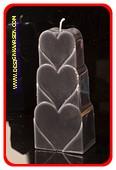 Herzen Kerze, SCHWARZ, höhe: 18 cm