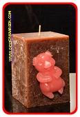 Happy Schwein Kerze, 10 cm 103