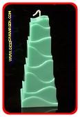 Turm Kerze, GRÜN, höhe: 21 cm
