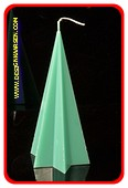Stern Pyramide Kerze, GRÜN, höhe: 20 cm