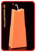 Adele Kaars, GLANS ORANJE, hoogte: 19cm