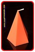 5 eckige Pyramide Kerze, GLANZ ORANGE, höhe: 11 cm
