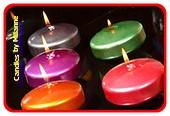 5 discus kaarsen in METALLIC kleuren 8x4,5 cm
