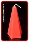 Obelisk Kerze, klein  ROT, höhe: 16 cm