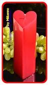 Hartenkaars ROOD metallic, hoogte: 18cm