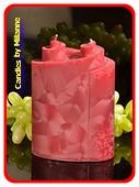 Piaf Kerze, BLAU, höhe: 18 cm 2 Dochten