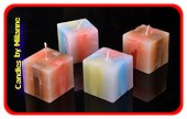 Set van 4 MEGA KUBUS kaarsen 7x7x7 cm