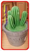 Cactus kaars XXL, hoogte: 32 cm, type B