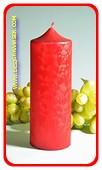 XXL Klok kaars, ROOD POLYMICO, hoogte 19 cm