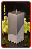 Kwadrant kaars, GRIJS PERL MAT, hoogte 16 cm
