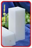 Kwadrant kaars, WIT PERL MAT, hoogte 16 cm