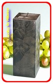 Kwadrant kaars, ZWART POLYMICO, hoogte 16 cm