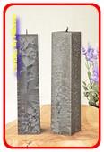 Kwadrant kaarsen, ZWART POLYMICO, hoogte 22 cm, 2 STUKS
