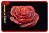 Roze Kerze DUNKEL ROT  Ø 12 cm
