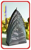 Bogen Kaars, ZWART POLYMICO, hoogte: 17cm