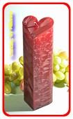 Herzenkerze BORDEAUX ROT POLYMICO, höhe: 18 cm