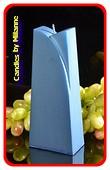 Adele Kaars, BLAUW METALLIC, hoogte: 19cm