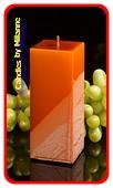 Kwadrant kaars, KOPER METALLIC, hoogte 16 cm