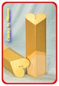 Herzen Kerze, GOLD, H: 18 cm