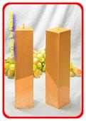 Kwadrant kaarsen GOUD, hoogte 22 cm, 2 STUKS