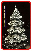 Kerstboom kaars groen, Ø12 cm  hoogte: 18cm