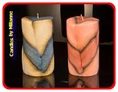 Modern Kerze 2 Stück, höhe: 12 cm - B: 7 cm