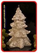 Kerstboom kaars WIT Ø12 cm  hoogte: 18cm