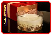 Ëlsclusieve 3 Döchten Kerze in luxes Geschenkbox WEISS